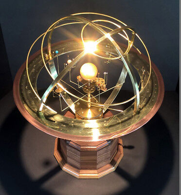 Tower Orrery: Walnut or Oak Base with Armillary and 9 planets