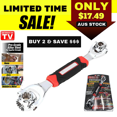 48-IN-1 Socket Wrench Ultimate Wrench Tiger Tools Dog Bone Metric As Seen On TV