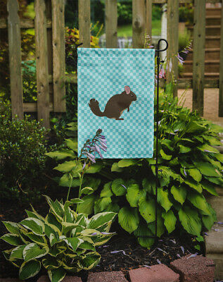 Carolines Treasures  BB8049GF Chinchilla Blue Check Flag Garden Size