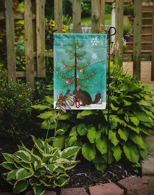 Carolines Treasures  BB9242GF Chinchilla Christmas Flag Garden Size