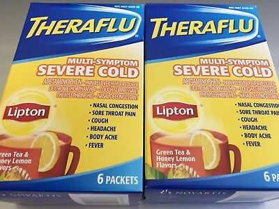 Theraflu Multi Symptom Severe Coldgreen Tea And Honey Lemon Flavors