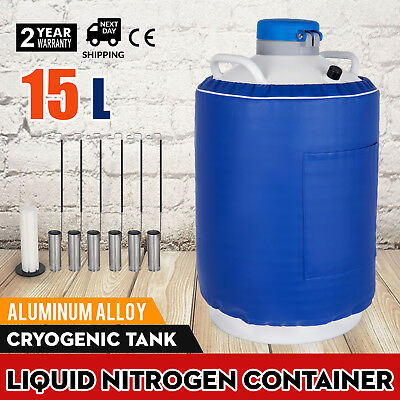 15L Liquid Nitrogen Container Ln2 Cewar Tank Cryogenic Portable Biomedical