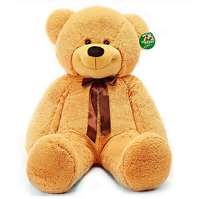 "63"" Jumbo Giant Huge Big Stuffed Teddy Light Brown Bear Plush Soft Toy Xmas Gift"