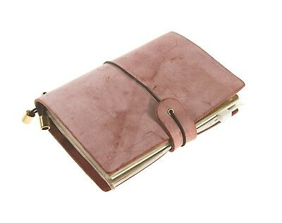 UNIQUE HM&LN Genuine Leather Journal Travelers Notebook Refillable Vintage Gifts