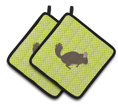Carolines Treasures  BB7701PTHD Chinchilla Green Pair of Pot Holders