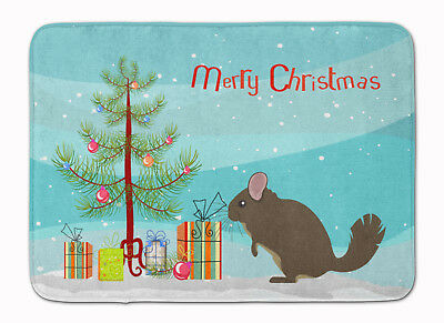 Chinchilla Christmas Machine Washable Memory Foam Mat
