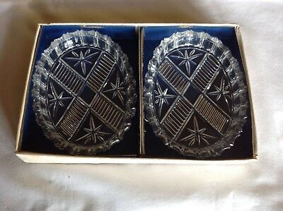 Pair of  Cut Glass Dishes- 1980s