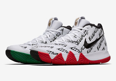 DS Nike Kyrie 4 BHM Equality Green Red AQ9231-900 LIMITED size 9.5 DEADSTOCK
