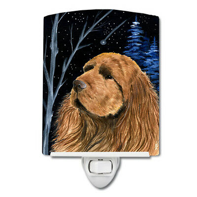 Carolines Treasures  SS8391CNL Starry Night Sussex Spaniel Ceramic Night Light