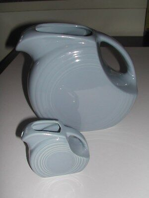 FIESTAWARE RETIRED periwinkle blue pitcher and acompany smaller pitcher