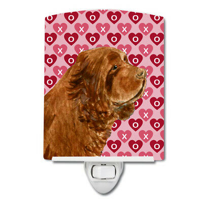 Sussex Spaniel Hearts Love Valentine's Day Ceramic Night Light