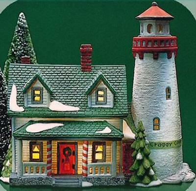 """Dept 56 New England Village """"CRAGGY COVE LIGHTHOUSE"""" - MINT CONDITION"""