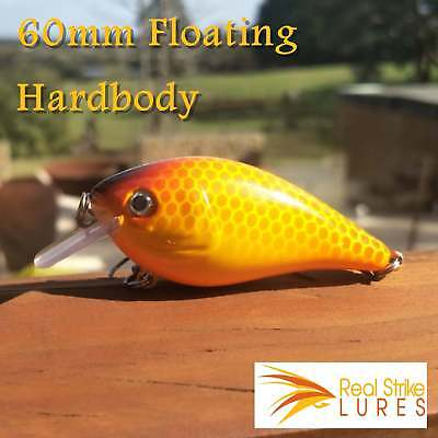 6cm Fishing lures Floating Bream Trout Yellowbelly Orange Bass Barra