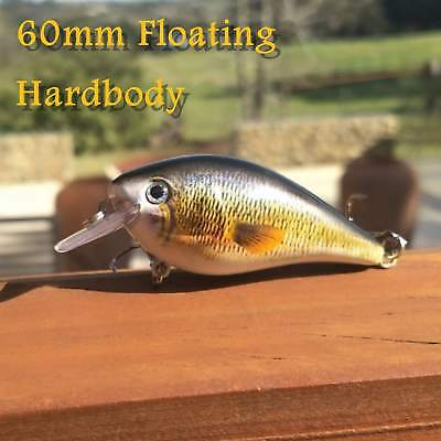 6cm lures Bream Trout Flathead Brown Fishing Lure Yellowbelly Bass Barra