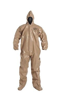 DUPONT C3122TTNXL000600 Tychem CPF3 Chemical / NBC Chem Suit w/Hood & Boots NEW