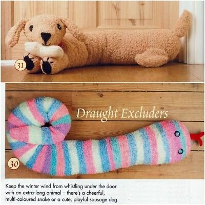 Knitting Pattern Dog Draught Excluder Stag Geometric Cushion 3