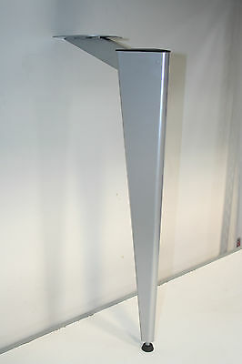 Triangular Metal Table Legs Set Of 4 Silver Finish Height 700mm (D0065.6)
