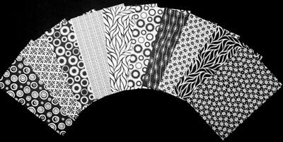 "BLACK & WHITE  Scrapbooking/Cardmaking Papers x 10 *15cm x 10cm** (6"" x 4"")"