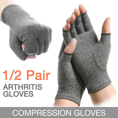 Soft Compression Arthritis Gloves Hand Wrist Support Joint Finger Pain Relief AU