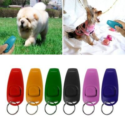 Dog Training Whistle Clicker Pet Dog Trainer Aid Guide Key Chain For Supply Dog