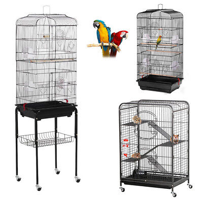 Pet Cat Bird Cage Parrot Aviary Canary Budgie Finch Perch Ferret Hamster House