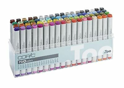 Copic CLASSIC 72 colors Set A  Premium Artist Markers  -Express Shipping