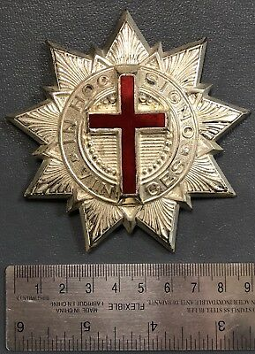 KNIGHTS TEMPLAR, Large Metal Badge, Over 90 mm in size