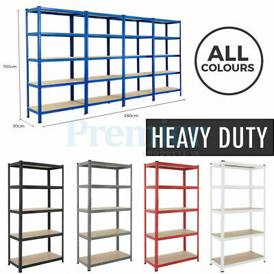 5 Tier Heavy Duty Steel Metal Shelving Racking Industrial Boltless Shelf