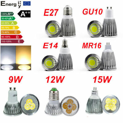 Bright CREE MR16/GU10/E27 2W 9W 12W 15W LED Spotlight Bulbs Light Lamps