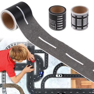 DIY Traffic Railway Road Adhesive Tape Print Stickers Kids Car Track Play Game