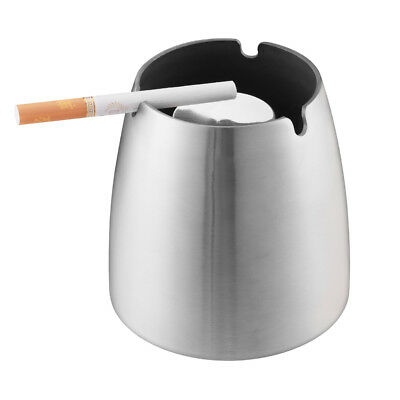 Cigarette Smokeless Metal Ashtray Car Cup Holder Bucket Windproof Outdoor Sliver