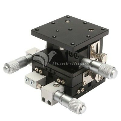 3 Axis XYZ Linear Stage Trimming Platform Bearing Tuning Sliding 60x60mm Table