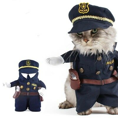 Cat Costume Policeman Style Dog Cat Funny Clothes