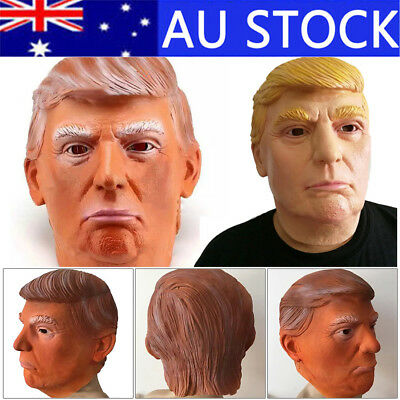 Donald Trump Mask President Latex Face Mask Fun Costume Cosplay Xmas Party