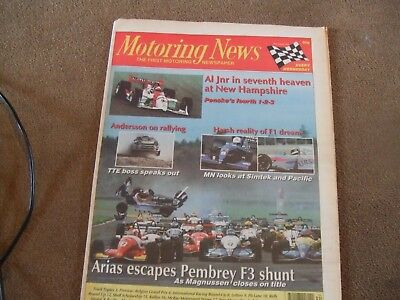 Motoring News 24 August 1994 Simtek Pacific F1 McRae Stages Rally Ove Andersson