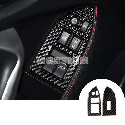 Carbon Fiber Inner Window Switch Cover For Toyota 86 GT86 Scion FR-S 2012-2018