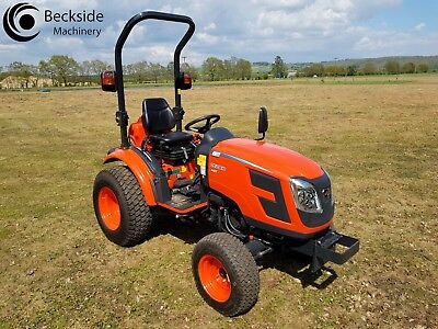 Kioti CK2810 HST Hydro static Compact Tractor 28HP 4WD On Large Turf Tires  Great Products & Service visit us at Beckside Machinery