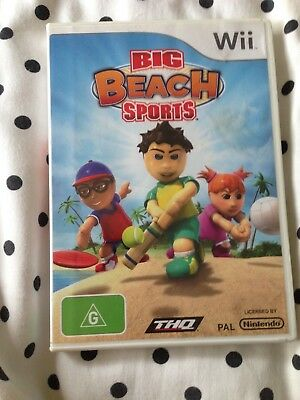 Wii, Big beach sports, complete, tested and good working condition