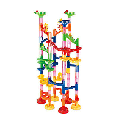 91pcs DIY Marble Run Race Construction Set Building Blocks Kit Kids Toy Gift