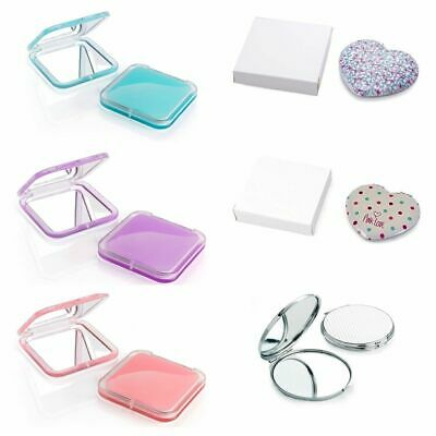 Ladies Compact Mirror Different Designs Make Up Handheld Double Sided Handbag