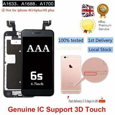 For iPhone 6S Replacement Digitizer LCD Touch Screen Black Home Button Camera UK