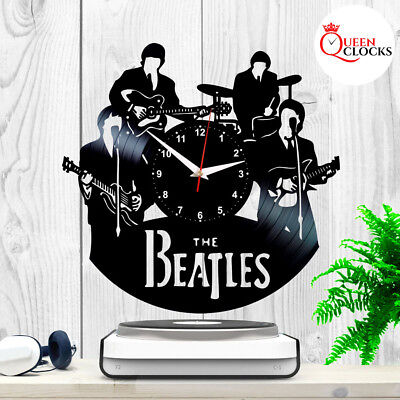 The Beatles Music Vinyl Record Clock Fans Collection Gift Room Decor Wall Art LP