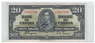1937 Bank of  Canada 20 Dollar Note K/E Coyne/Towers
