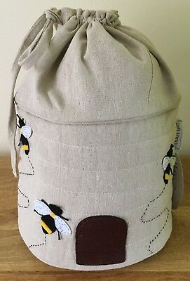 BEE HIVE DRAWSTRING BAG Knitting & Crocheting Storage SUPER QUALITY