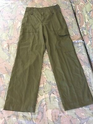 Original Issue Lightweight Olive Green British Army Trousers