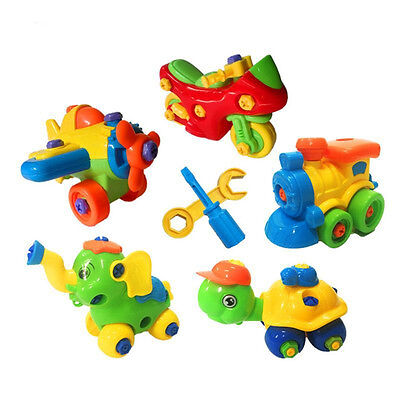 LC_ HK- Kids DIY Assembling Small Building Blocks Model Tool Clamp Education T