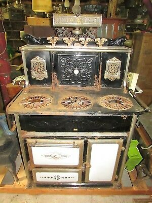 """Antique  """"Quick Meal"""" cook stove."""