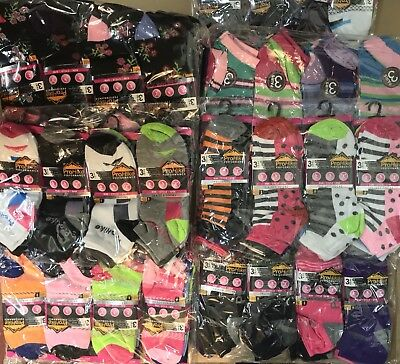 48 Pairs Of Ladies Trainer Socks Assorted Patterns Size 4-8 Wholesale Job Lot
