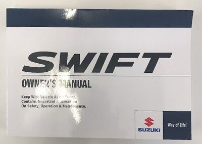 suzuki swift owners handbook manual and wallet 05 10 20 99 rh picclick co uk Operators Manual Cartoon Manual