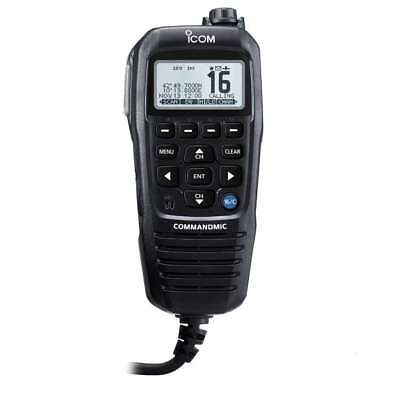 Icom COMMANDMIC IV with White Backlit LCD In Black #HM195GB